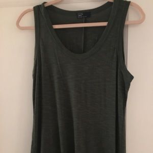 Gap Maxi Dress. Space Die Army Green.